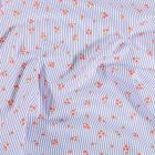 Tissu Coton imprimé Arty Megan Bleu sur fond Blanc - Par 10 cm