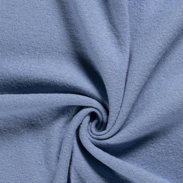 Laine bouillie 100% laine Bleu - Par 10 cm