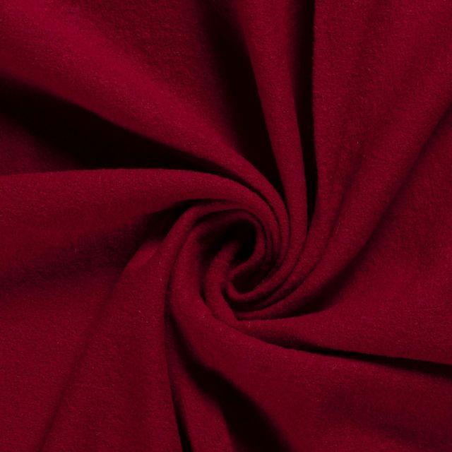 Laine bouillie 100% laine Rouge foncé - Par 10 cm