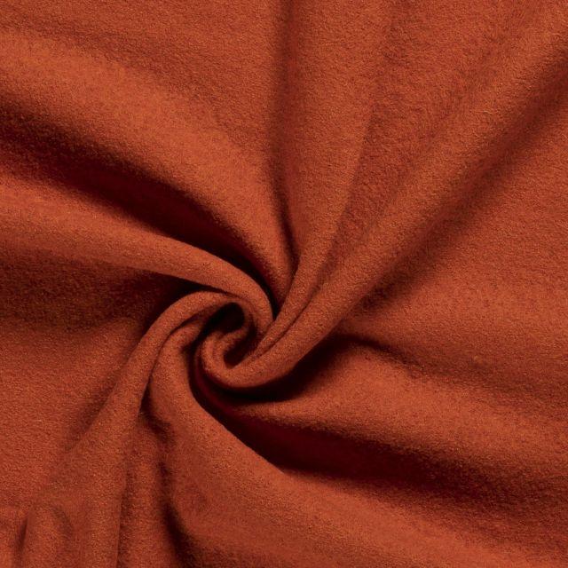 Laine bouillie 100% laine Orange - Par 10 cm