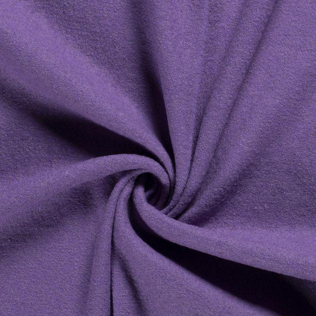 Laine bouillie 100% laine Violet - Par 10 cm
