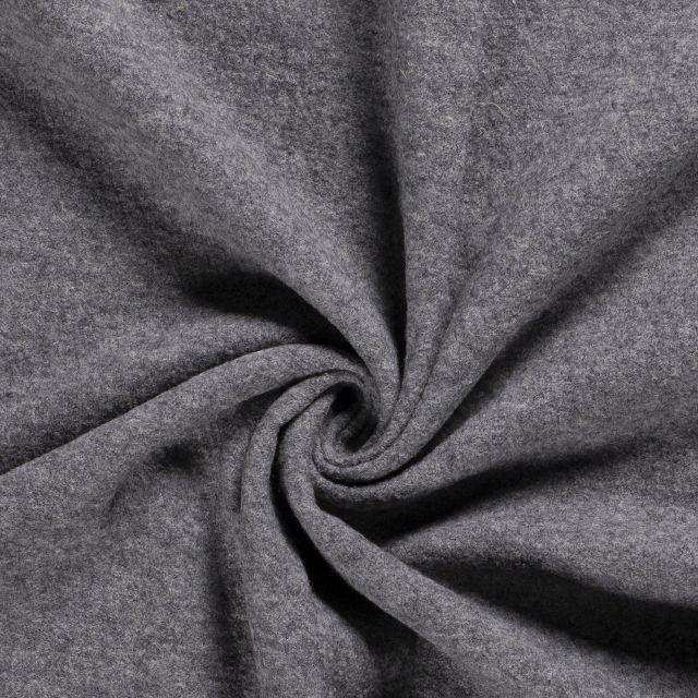 Laine bouillie 100% laine Gris chiné - Par 10 cm