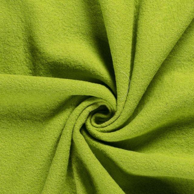 Laine bouillie 100% laine Vert citron - Par 10 cm