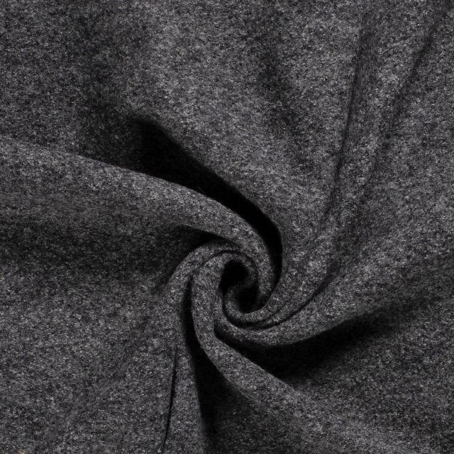 Laine bouillie 100% laine Gris foncé chiné - Par 10 cm