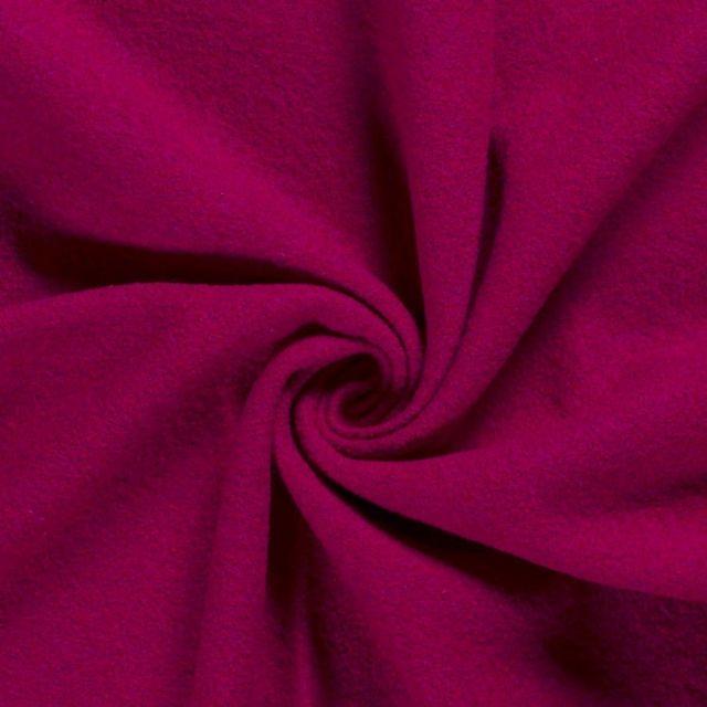 Laine bouillie 100% laine Rouge framboise - Par 10 cm