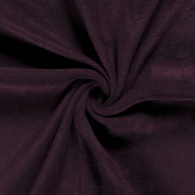 Tissu  Polaire uni Bordeaux foncé - Par 10 cm