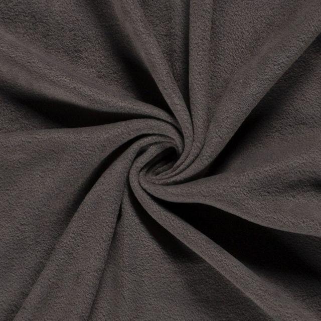 Tissu  Polaire uni Gris ardoise - Par 10 cm
