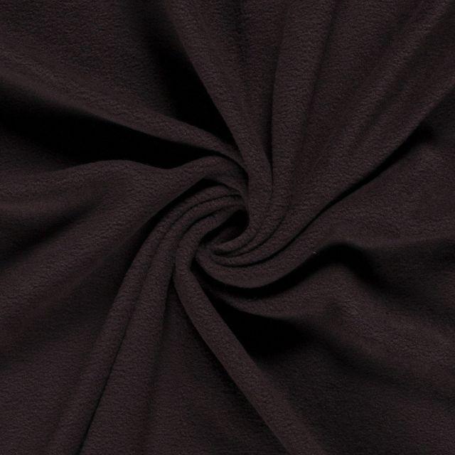 Tissu  Polaire uni Marron chocolat - Par 10 cm