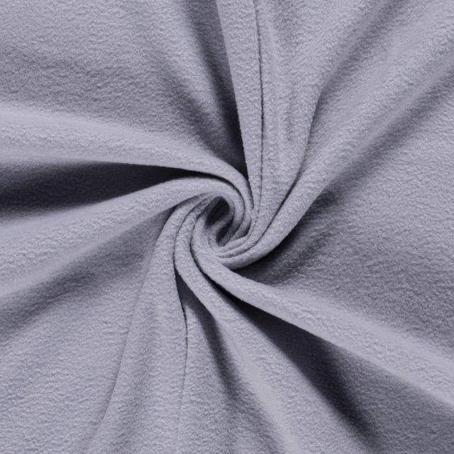 Tissu  Polaire uni Gris clair - Par 10 cm