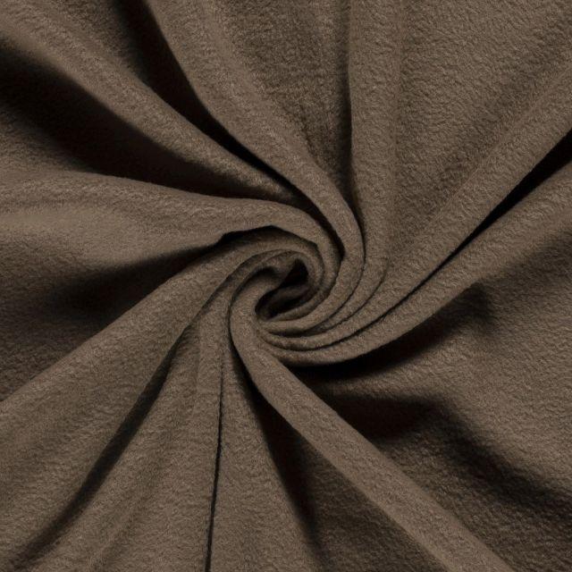 Tissu  Polaire uni Taupe - Par 10 cm
