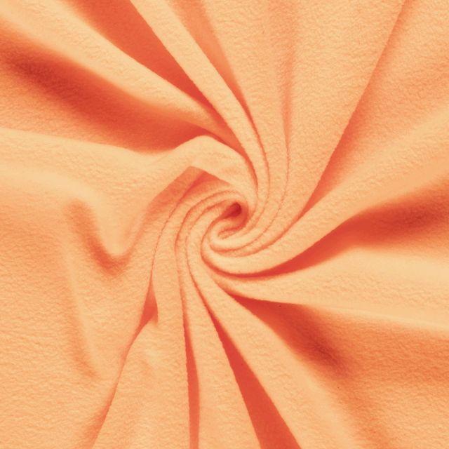 Tissu Polaire uni Orange fluo - Par 10 cm