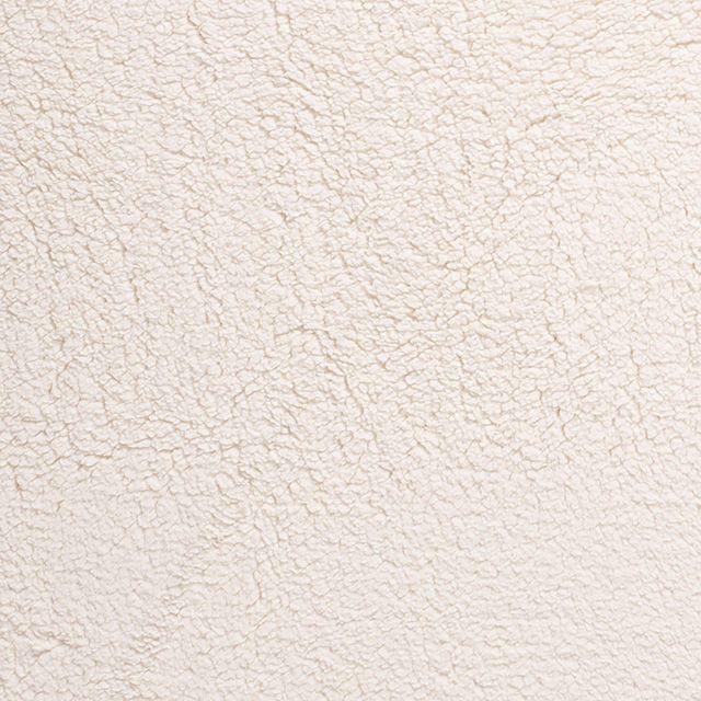 Tissu Fausse fourrure mouton Blanc cassé sur fond Blanc cassé - Par 10 cm