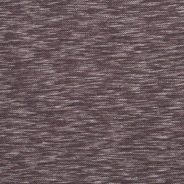 Tissu Maille Jacquard chiné sur fond Taupe - Par 10 cm