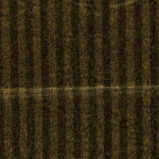 Tissu Jacquard Toucher laine Rayures sur fond Jaune - Par 10 cm