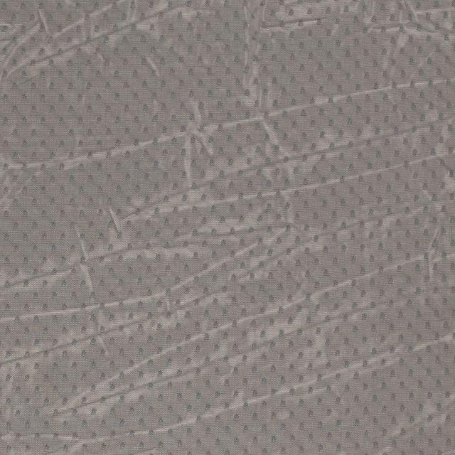 Tissu Tulle souple à pois Pois sur fond Vert kaki - Par 10 cm