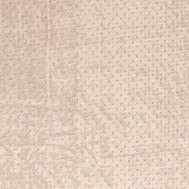 Tissu Tulle souple à pois Pois sur fond Taupe - Par 10 cm