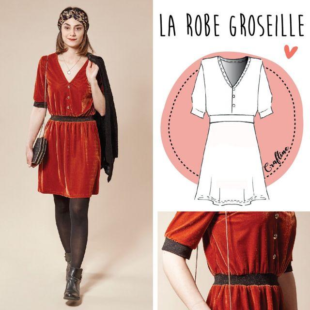 Patron Craftine Robe Groseille
