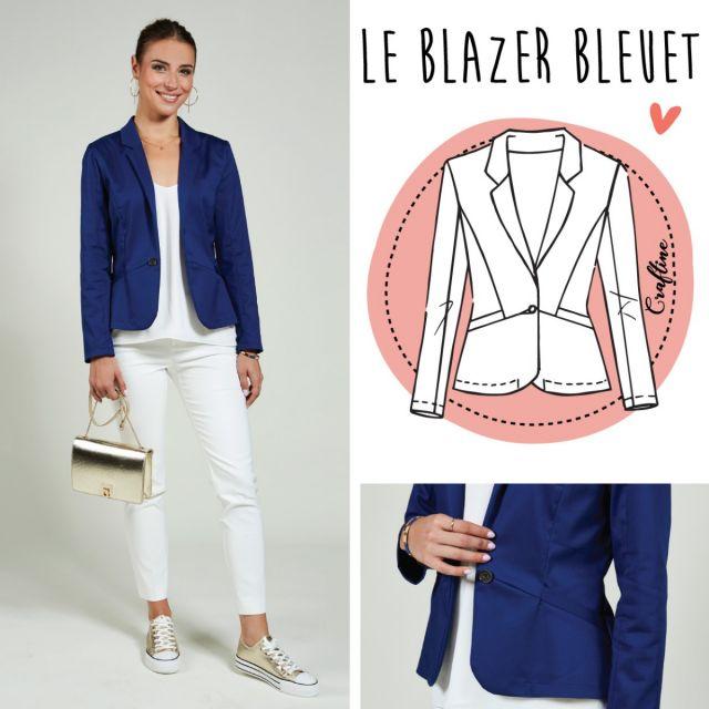 Patron Craftine Blazer Bleuet