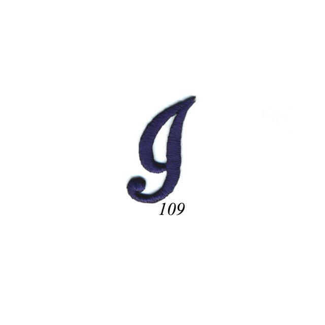 "Ecusson Thermocollant Lettre Calligraphie Anglaise ""I"" Marine"