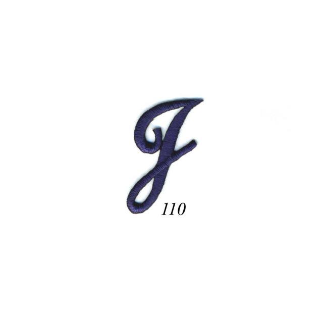 "Ecusson Thermocollant Lettre Calligraphie Anglaise ""J"" Marine"