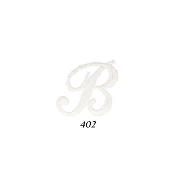 """Ecusson Thermocollant Lettre Calligraphie Anglaise """"B"""" Blanche"""