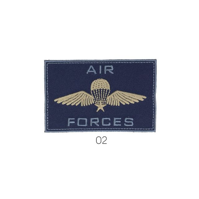 Ecusson Thermocollant Air Force Beige et Bleu Marine