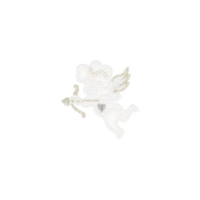 Ecusson Thermocollant Broderie Cupidon Doré