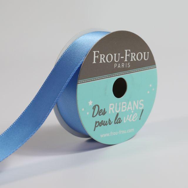 Bobinette Ruban Satin double face Frou-Frou Ciel intense - 16 mm x 6 mètres