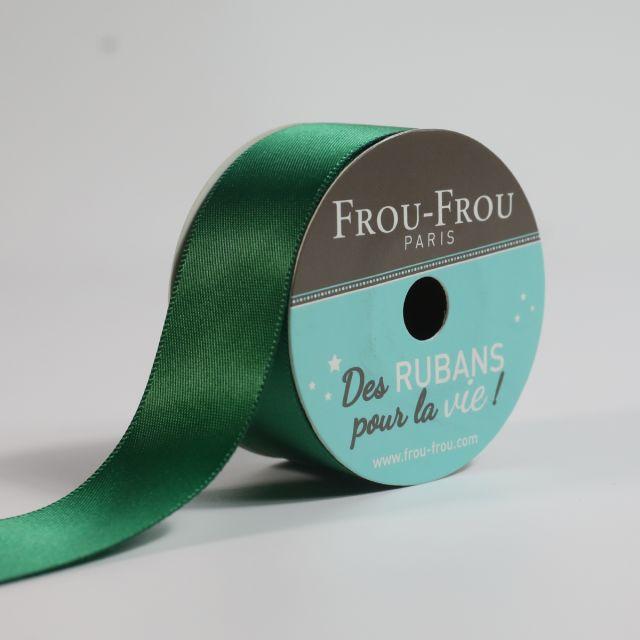 Bobinette Ruban Satin double face Frou-Frou Emeraude - 25 mm x 5 mètres