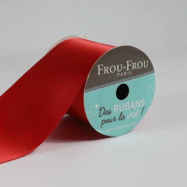 Bobinette Ruban Satin double face Frou-Frou Coquelicot - 50 mm x 4 mètres