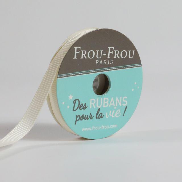 Bobinette Ruban Gros grain Frou-Frou Ivoire nacre - 6 mm x 6 mètres