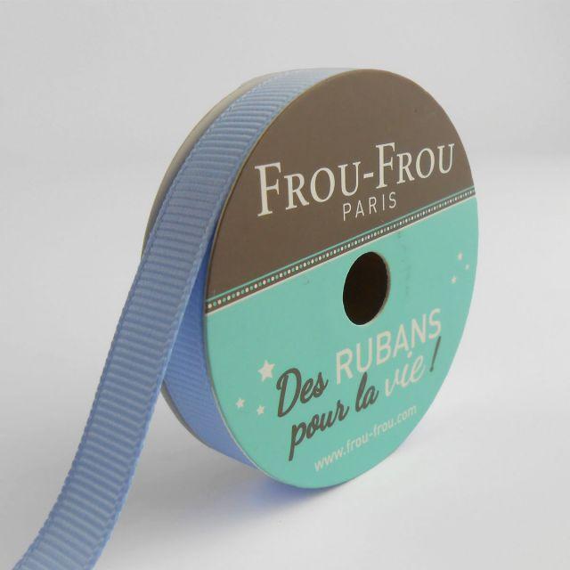 Bobinette Ruban Gros grain Frou-Frou Céleste - 9 mm x 6 mètres