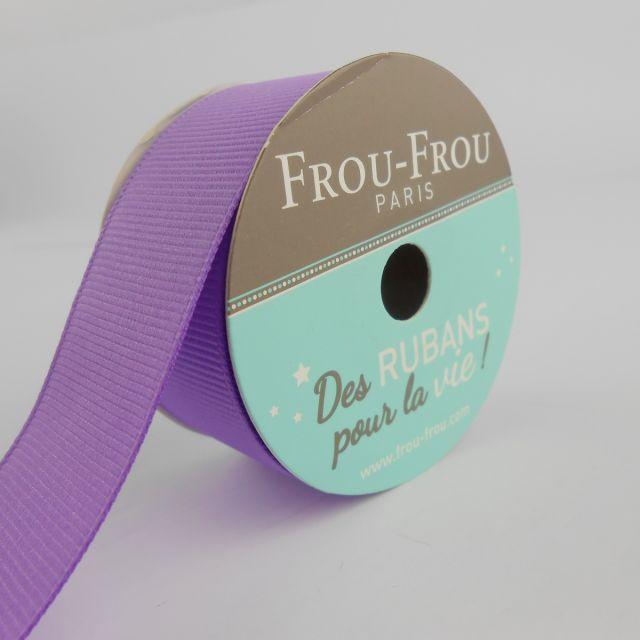 Bobinette Ruban Gros grain Frou-Frou Lavande rosee - 25 mm x 5 mètres