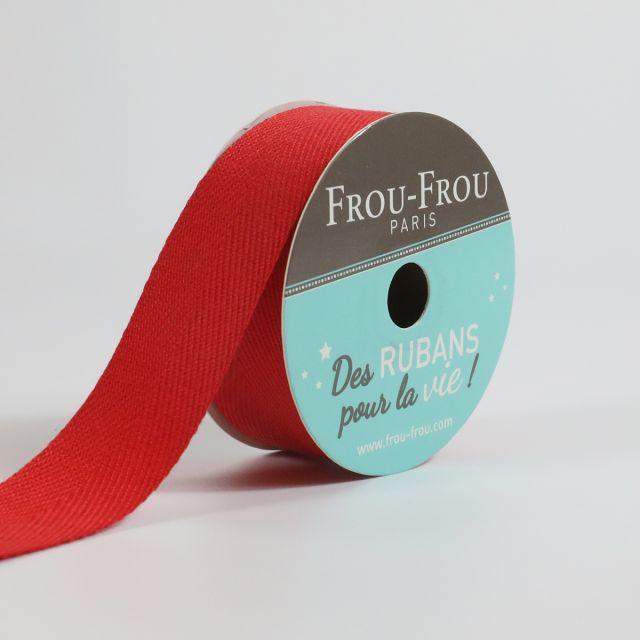 Bobinette Ruban Sergé Frou-Frou Coquelicot - 19 mm x 4 mètres