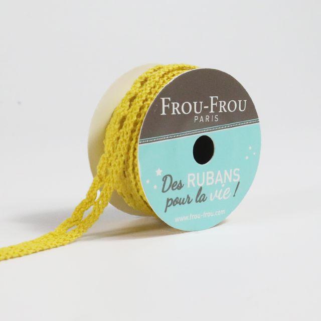 Bobinette Ruban Dentelle Frou-Frou Tournesol - 10 mm x 4 mètres