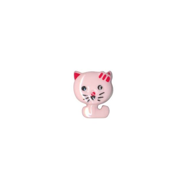Bouton Chat Polyester Rose