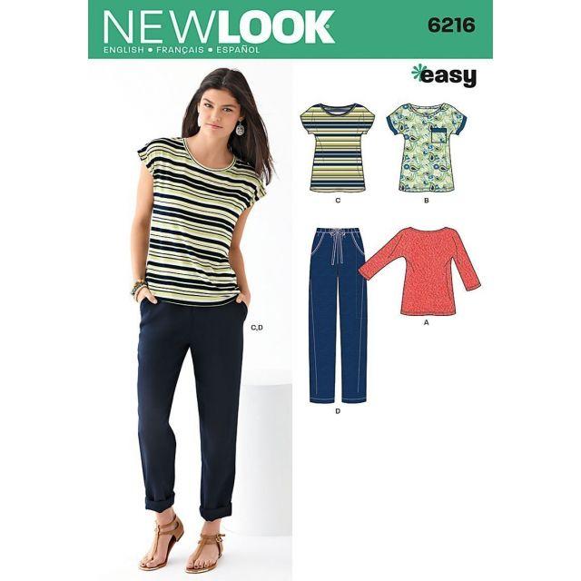 Patron New Look 6216 Ensemble Femmes