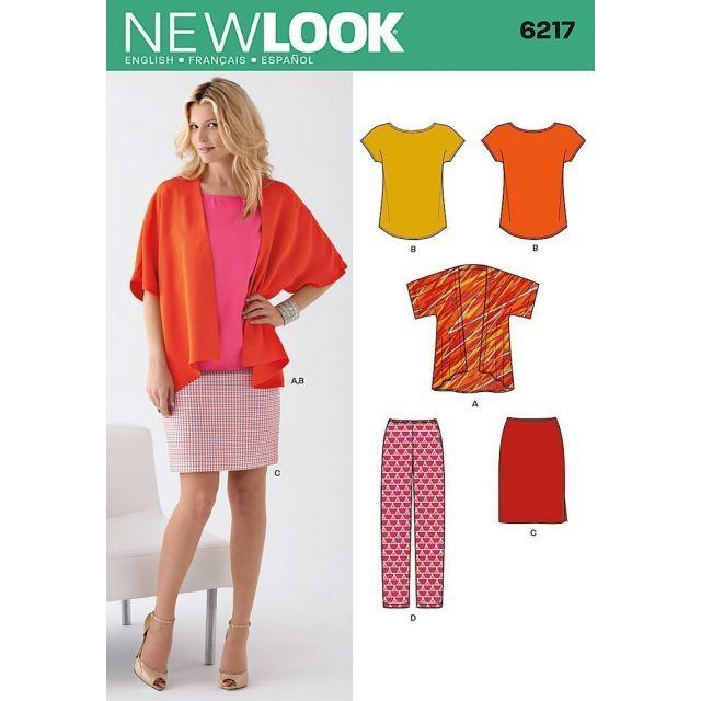 Patron New Look 6217 Ensemble Femmes