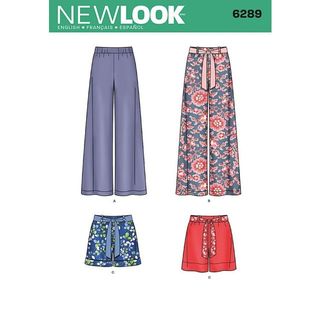 Patron New Look 6289 Short et Pantalon