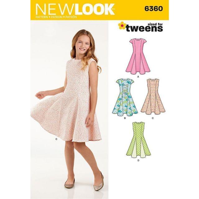 Patron New Look 6360 Robe Fillette