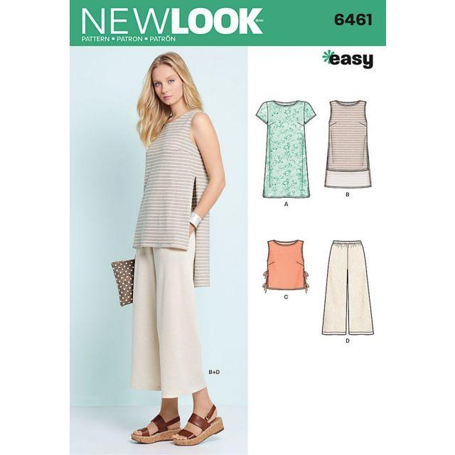 Patron New Look 6461 Tunique et Pantalon