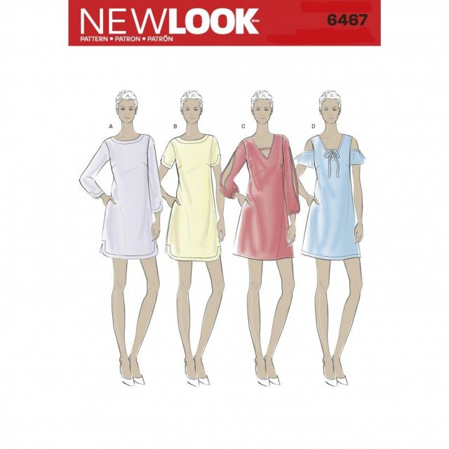Patron New Look 6467 Robe Dame