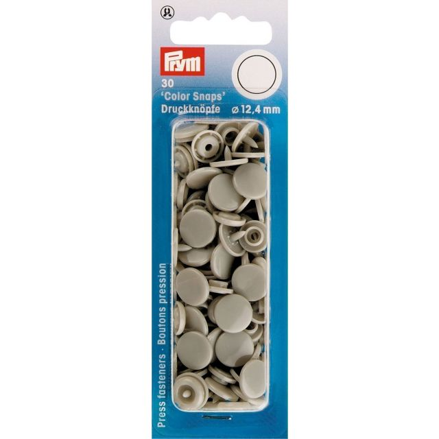 Prym 30 Boutons pression Color Snaps gris 12,4 mm