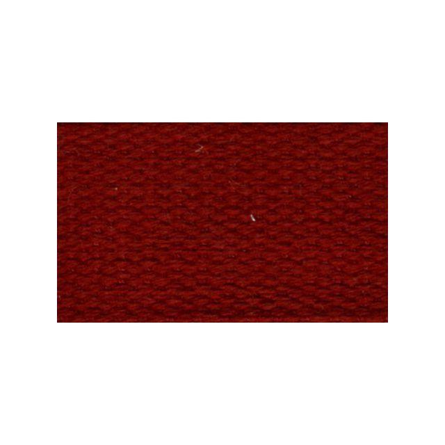 Sangle Coton 30 mm Rouge rubis x1m
