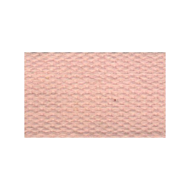 Sangle Coton 30 mm Rose clair x1m