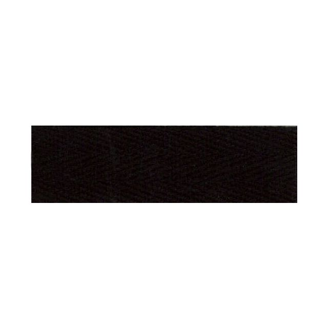 Sergé Coton 14 mm Noir x1m
