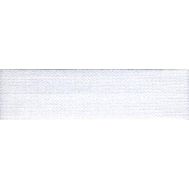 Biais replié Jersey 20 mm Blanc x1m