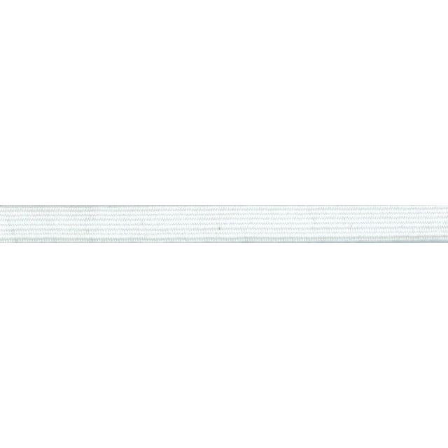 Elastique tubulaire polyester 16 mm Blanc x1m