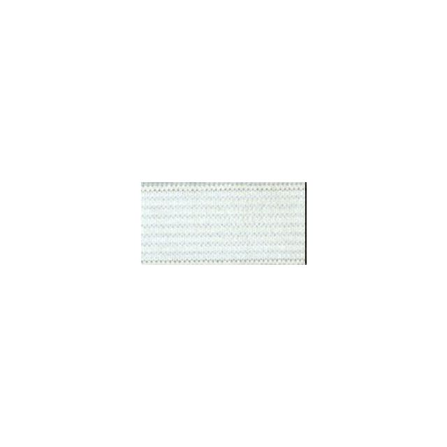 Elastique Plat Indémaillable 11 mm Blanc x1m