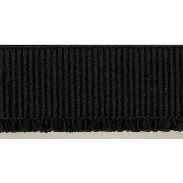 Elastique Bord Côte tout textile 40 mm Noir x1m